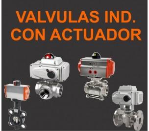 Valvulas industriales con actuador
